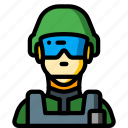 avatar, people, professional, professions, soldier, user icon