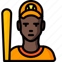 avatar, baseball, people, player, professional, professions, sports icon