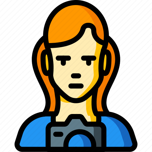 avatar, female, people, photographer, professional, professions, user icon