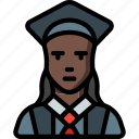 avatar, female, people, professional, professions, student, user icon