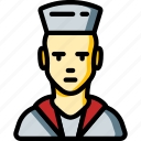 avatar, man, navy, people, professional, professions, sailor icon