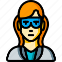 avatar, female, people, porfessor, professional, professions, scientist icon