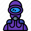 avatar, diver, frog, people, professional, professions, user icon