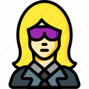 avatar, bouncer, female, people, professional, professions, user icon