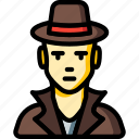 avatar, detective, male, people, professional, professions, user icon