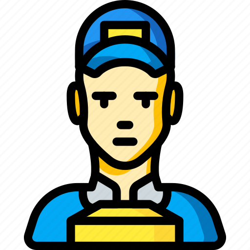 avatar, delivery, man, people, professional, professions, user icon