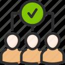 account, check, mark, profile, team, tick, user icon