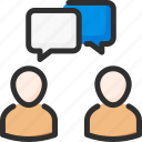account, chat, dialogue, discussion, profile, user icon