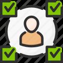 account, checkmark, profile, task, tick, user
