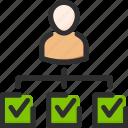 account, approve, profile, skills, test, tick, user icon