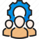 account, cogwheel, options, profile, settings, team, user