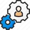 account, cogwheel, options, profile, settings, user icon