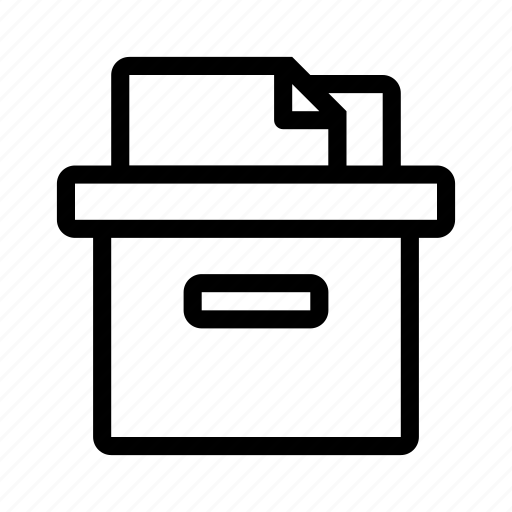 box, delivery, files, package, present icon