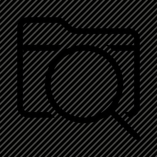 data, document, file, folder, search icon
