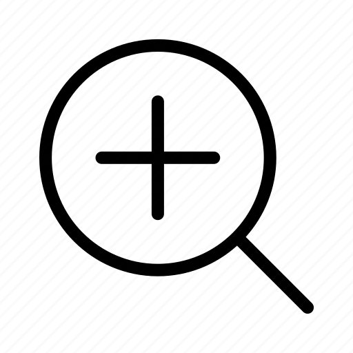 find, glass, in, magnifier, zoom icon