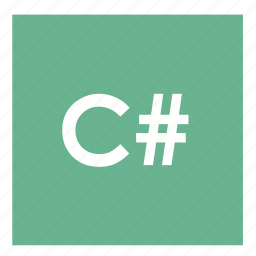 c#, code, language c#, lenguage, network, programming icon