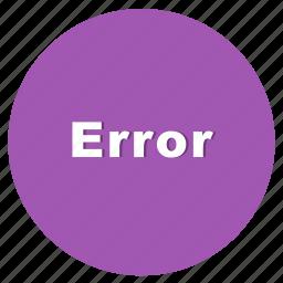 error, network, page fault, programming, web icon