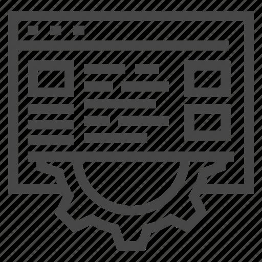 computer, development, gear, planning, process, programming icon
