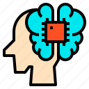 brain, code, idea, intelligence, programming icon