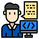code, coding, computem, programer, programming icon