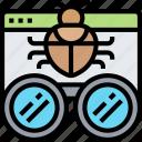 debug, malware, protection, program, fix icon