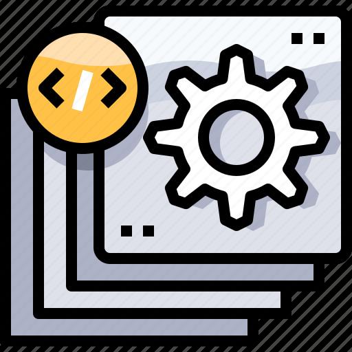 coding, develop, development, process, programming icon