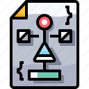coding, develop, development, document, file, flowchart, programming icon