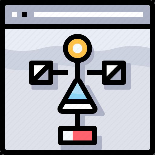 coding, develop, development, flowchart, programming icon