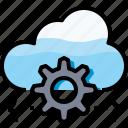cloud, coding, develop, development, process, programming icon