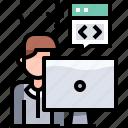 app, coding, develop, development, programmer, programming icon