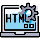 code, coding, develop, development, html, programming icon