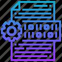 application, binary, data, digital, programming icon