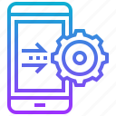 data, gear, operating, setup, smartphone, system icon