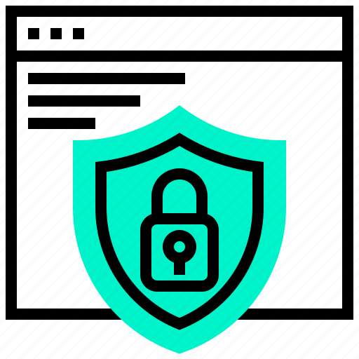 application, protection, security, shield, web, website icon