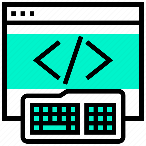 application, code, data, keyboard, programming, website icon