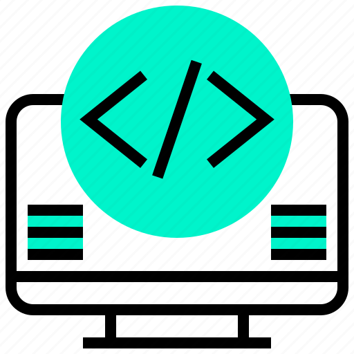 application, code, data, embed, programming icon
