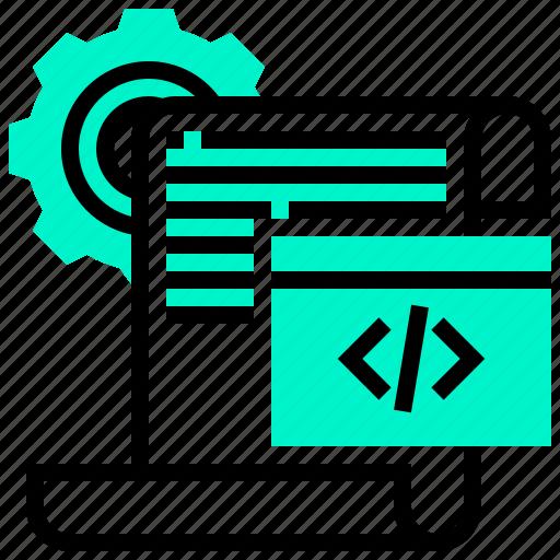 application, code, data, programming, script icon