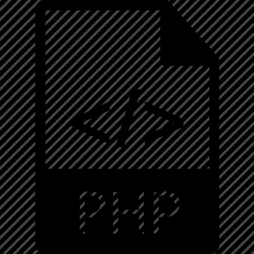 code, extension, file, language, php, prog, progamming icon