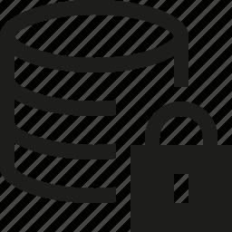 database, locked icon