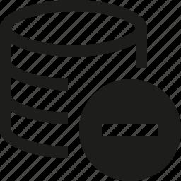 database, minus icon