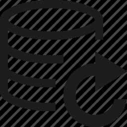 database, refresh icon