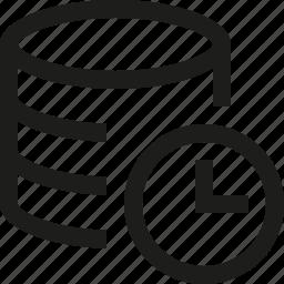 database, timer icon