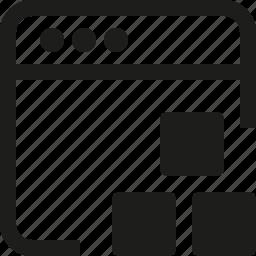 bricks, interface, window icon