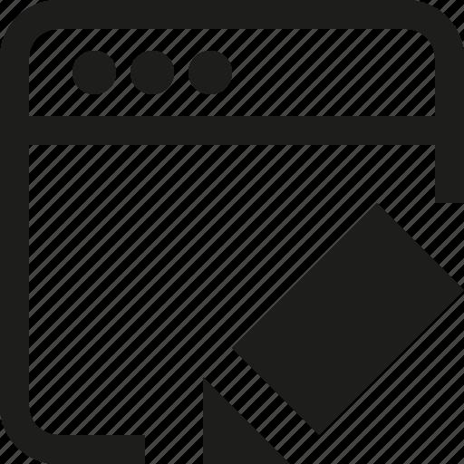 edit, interface, window icon