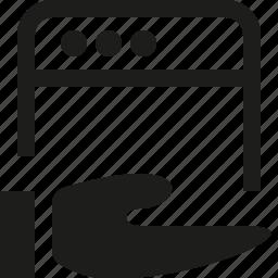 hand, interface, window icon
