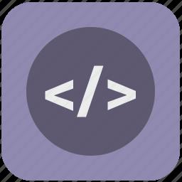 code, editor, html, program icon