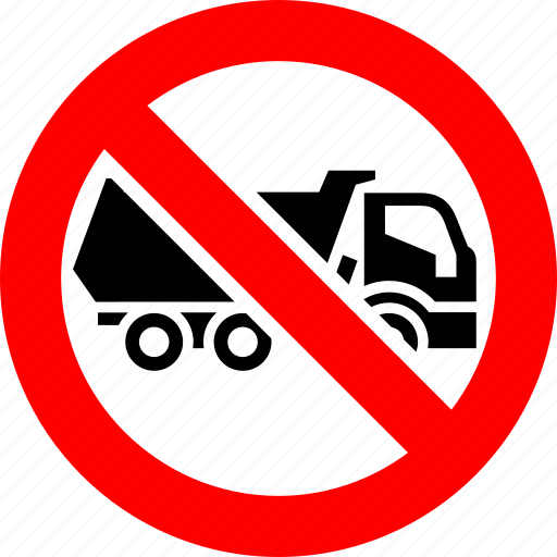Ban, dump, lorry, prohibited, transport, truck, vehicle icon - Download on Iconfinder