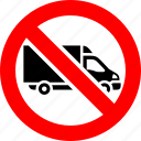 ban, delivery, lorry, prohibited, shipping, transport, truck icon