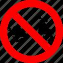 ban, motorbike, motorcycle, no, prohibited, transport, vehicle icon