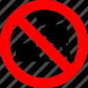 ban, bubble gum, chewing, gum, no, prohibited
